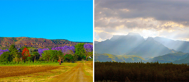 ouma se opstal, drakensberg accommodation, winterton, bergville, bed and breakfast, self catering, guest house, farm accommodation, views of drakensberg